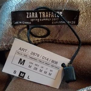 Zara Skirts - Zara Metallic Skirt Medium